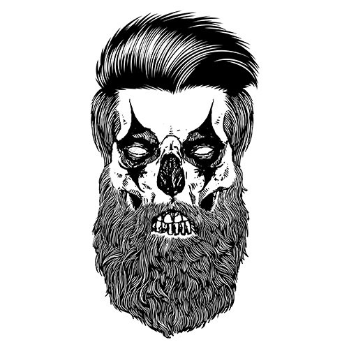 Beard clown